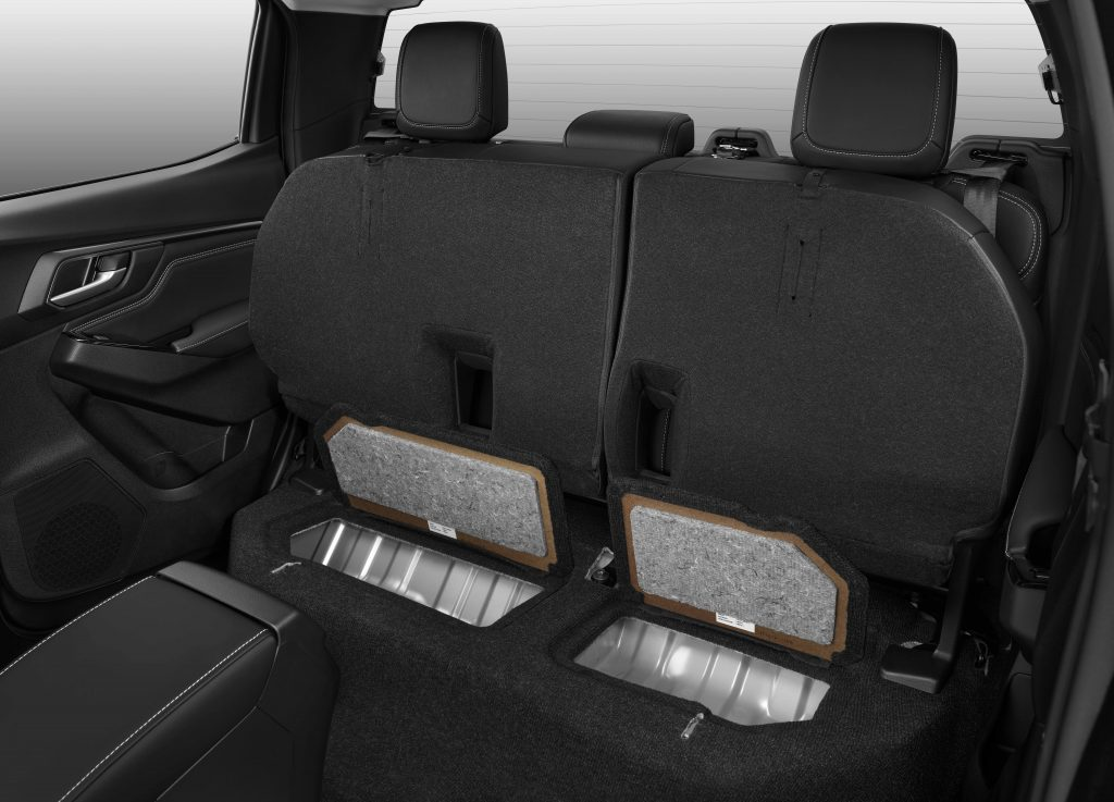 Rear seat storage